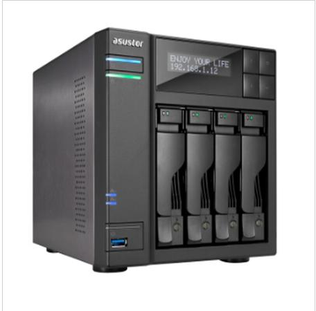 华芸 AS-604T 网络存储服务器 4盘位双核 185.5*170*230mm 黑色