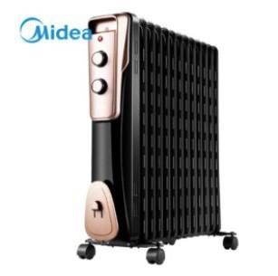 美的(Midea)取暖器/电暖器/电暖气片家用 节能省电 静音加湿烘衣 13片大面积劲暖电热油汀NY2513-16JW